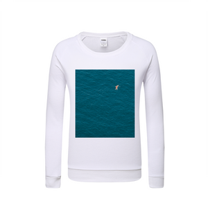 A Man In A Blue Sea Kids Graphic Sweatshirt