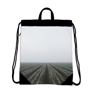 End of the field Canvas Drawstring Bag