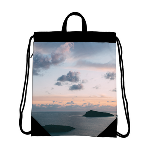 Cloudy Sunset Canvas Drawstring Bag
