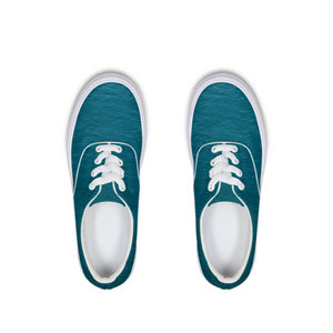 A Man In A Blue Sea - Lace Up Canvas Shoe