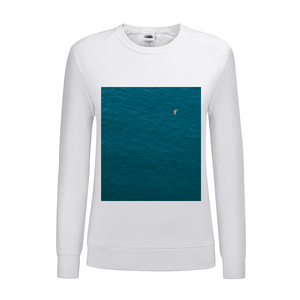 A Man In A Blue Sea Women's Graphic Sweatshirt