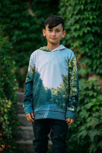 Forested Road Kids Hoodie
