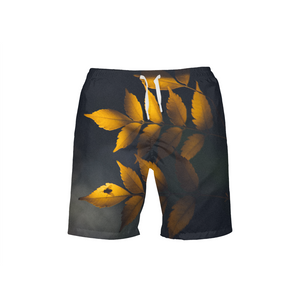Yellow Leaves Men's Swim Trunk