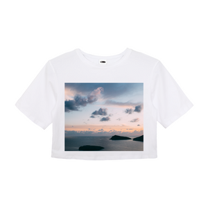 Cloudy Sunset Women's Crop Top