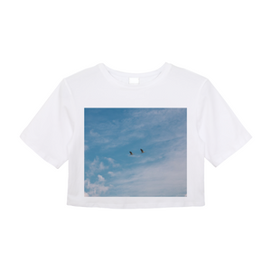 Blue Sky Women's Crop Top