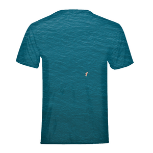 A Man In A Blue Sea Kids T-Shirt
