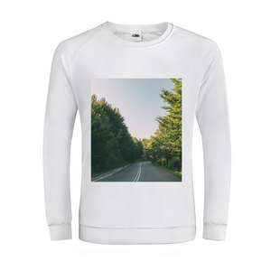 Forested Road Men's Graphic Sweatshirt