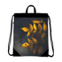 Yellow Leaves Canvas Drawstring Bag
