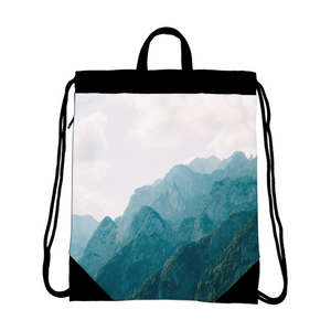 Mountain Tops Canvas Drawstring Bag