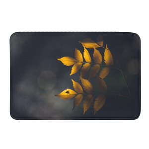 Yellow Leaves Bath Mat