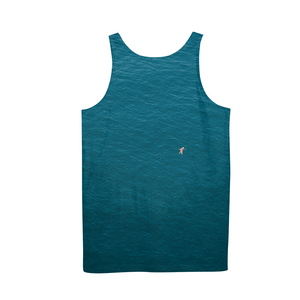 A Man In A Blue Sea Men's Tank