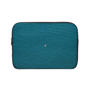 A Man In A Blue Sea Laptop Sleeve