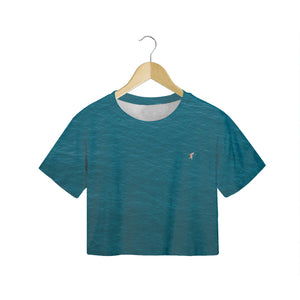 A Man In A Blue Sea - Women's Crop Tee