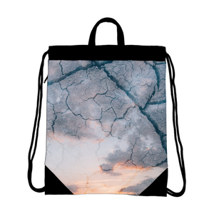 Sky Ground Canvas Drawstring Bag