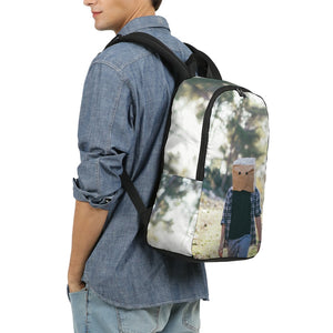 The Hiding Face Large Backpack