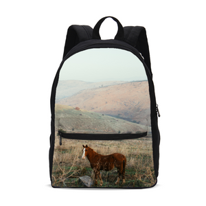 Wild Horse Small Canvas Backpack