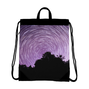 Dancing Stars Canvas Drawstring Bag
