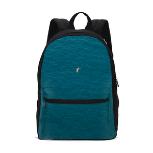 A Man In A Blue Sea Small Canvas Backpack