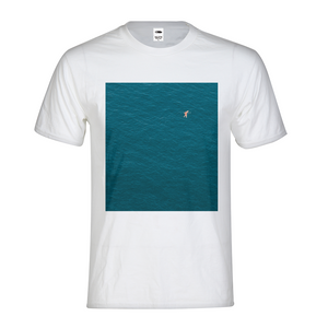 A Man In A Blue Sea Kids Graphic T-Shirt
