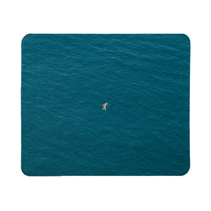 A Man In A Blue Sea Mouse Pad