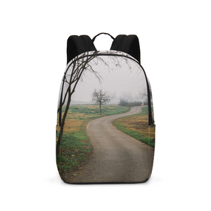 Foggy Trees Large Backpack