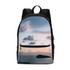 Cloudy Sunset Small Canvas Backpack