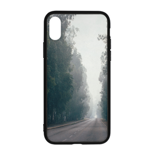 Foggy Forest Road iPhone X Case