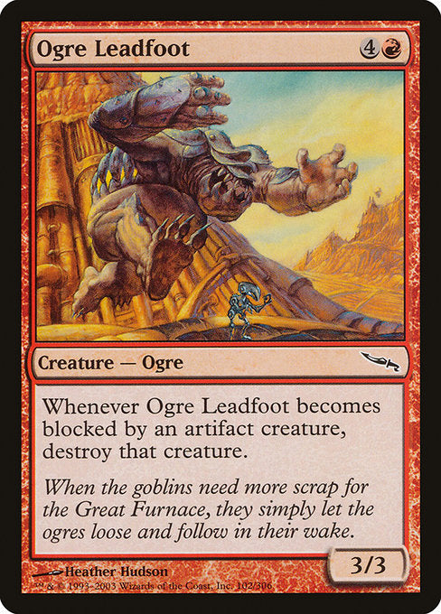 Ogre Leadfoot [Mirrodin] | Galactic Gamez