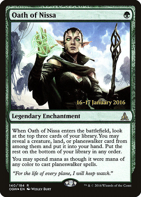 Oath of Nissa [Oath of the Gatewatch Promos] | Galactic Gamez