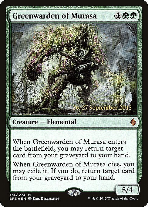 Greenwarden of Murasa [Battle for Zendikar Promos] | Galactic Gamez