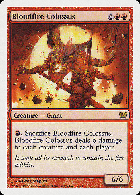 Bloodfire Colossus [Ninth Edition] | Galactic Gamez