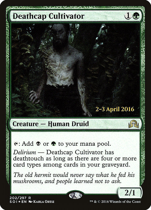Deathcap Cultivator [Shadows over Innistrad Promos] | Galactic Gamez