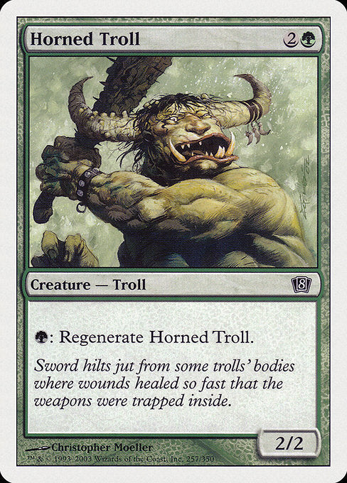 Horned Troll [Eighth Edition] | Galactic Gamez