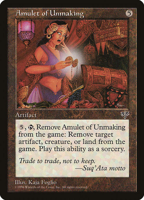 Amulet of Unmaking [Mirage] | Galactic Gamez
