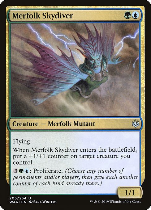 Merfolk Skydiver [War of the Spark] | Galactic Gamez