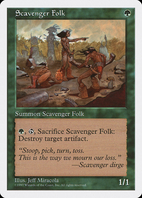 Scavenger Folk [Fifth Edition] | Galactic Gamez