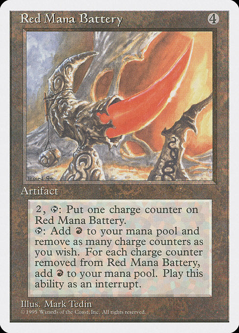Red Mana Battery [Fourth Edition] | Galactic Gamez