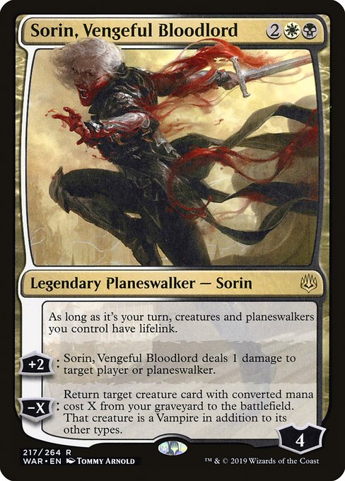 Sorin, Vengeful Bloodlord [War of the Spark] | Galactic Gamez