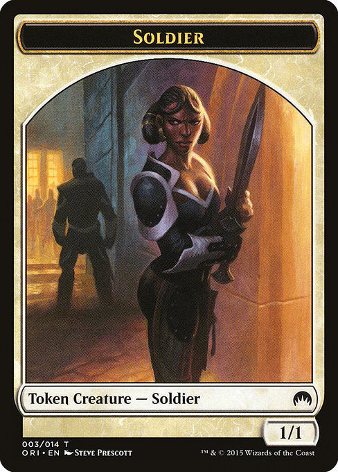 Soldier [Magic Origins Tokens] | Galactic Gamez