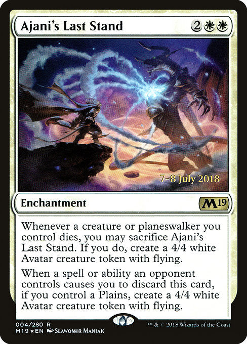 Ajani's Last Stand [Core Set 2019 Promos] | Galactic Gamez