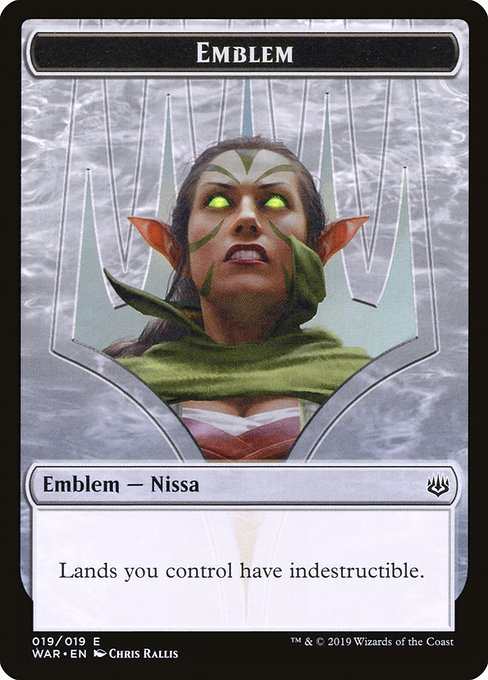 Nissa, Who Shakes the World Emblem [War of the Spark Tokens] | Galactic Gamez