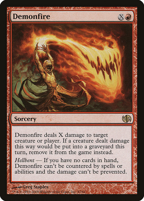 Demonfire [Duel Decks: Jace vs. Chandra] | Galactic Gamez