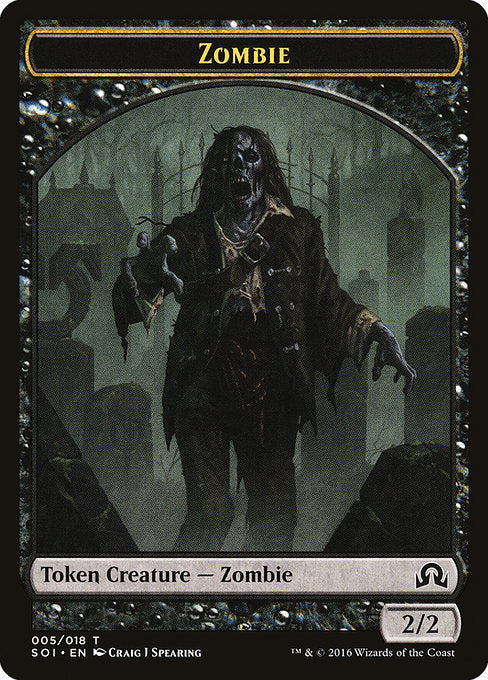 Zombie [Shadows over Innistrad Tokens] | Galactic Gamez
