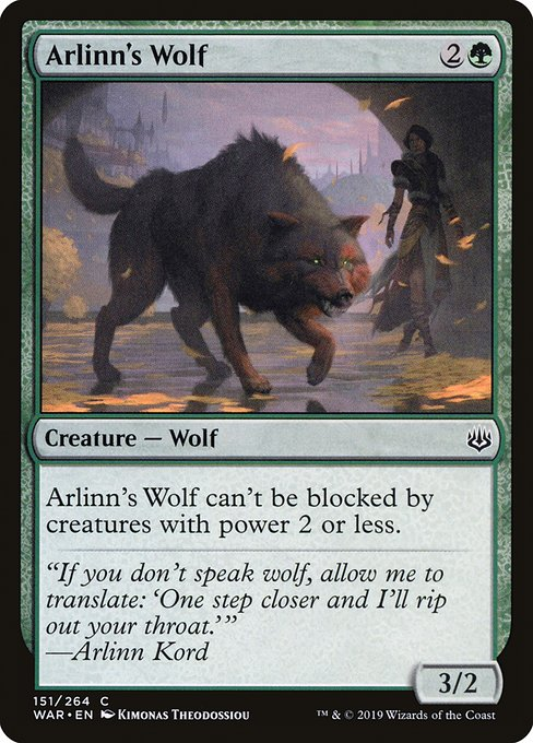 Arlinn's Wolf [War of the Spark] | Galactic Gamez