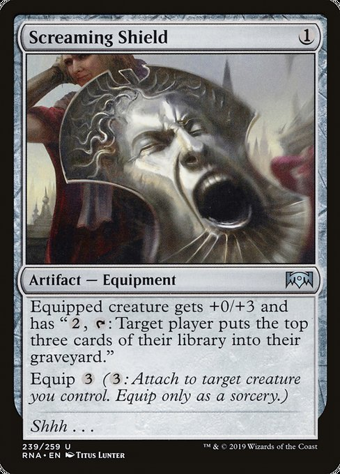 Screaming Shield [Ravnica Allegiance] | Galactic Gamez