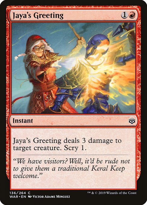 Jaya's Greeting [War of the Spark] | Galactic Gamez