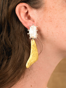Baran Earring - Gold/White Gold - Pair