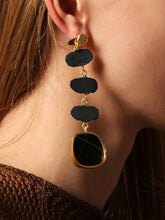 Load image into Gallery viewer, Eolian Earring (Reversible style) - Black / Gold - Pair