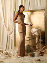 Load image into Gallery viewer, Sleeveless Axis Rib-knit Dress - Sand
