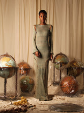 Load image into Gallery viewer, Exclusive Style - Couture shaped knit dress - Moss / Copper